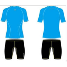 Stock Sublimated Short Sleeveshirts azuis