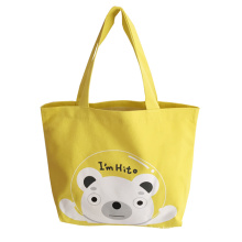 Color Printed cotton lunch drawstring bag canvas tote bag