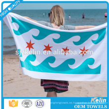 China tela tejida textil terciopelo algodón splash-tinta diseño personalizado toalla de playa de impresión