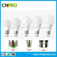 Ampoule LED en aluminium doublé en plastique de 110lm / W 12W