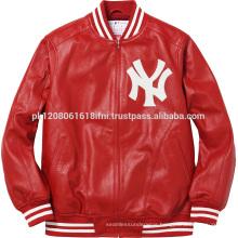 NY USA custom print jacket fleece varsity fashion and sports wear men and girls