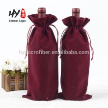 Изготовленный на заказ мягкий мешок drawstring бархата для вина пакет