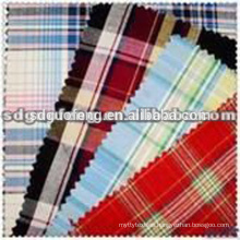 latest new Italy design pattern cheapest cotton 100% cotton yarn dyed shirting fabric