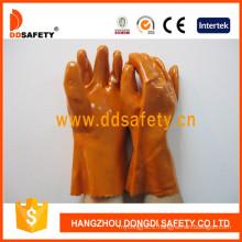 Orange PVC Industry Gloves, 100%Cotton Liner Dpv102