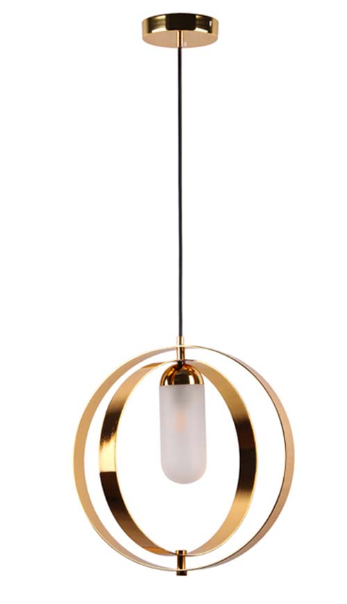 Deep Golden Simple Chandelier