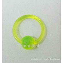 Anillos de nariz de acrílico de moda anillo anillo de cierre