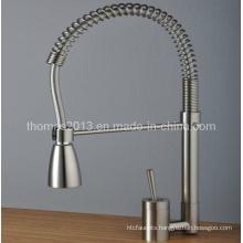 Brushed Nickel Single Handle Pull-out Kitchen Mixer Tap, Bickbock Tap (Qh0747s)