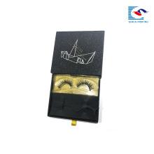 Изготовленный на заказ роскошный логотип золотой блеск 3 д ресницы норковые бумаги черного ящика норки