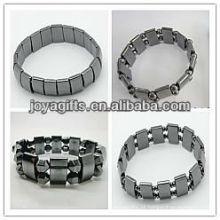 Assorted 4style * 3PCS Bracelete magnético do estiramento do espaço do hematita (12PCS / Bag)