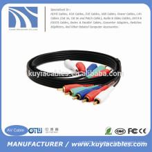 15 футов 5rca к 5rca Видео кабель для HDTV DVD видеомагнитофона