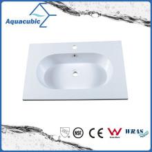 Pias de banheiro de mármore artificial de alta qualidade Acb0808