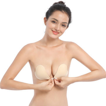 "Sutiã ""sexy"" invisível push-up de silicone"