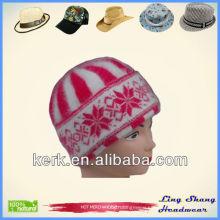 LSA10, Featured Girls Angora Beanie knitting hat