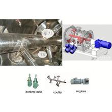 2017 LDH série coulter tipo máquina de mistura, misturador cone SS duplo, liquidificador químico horizontal
