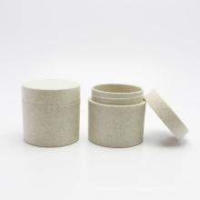 100g Wheat straw cream jars customized environmental skin care cosmetic cream empty jar plastic jars PLA-147AN