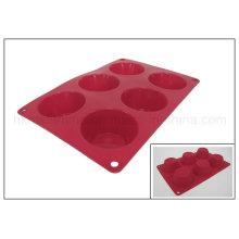 Moule de gâteau de silicone de 6 cellules (RS11)