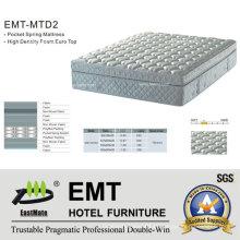 Colchão com cama de quarto de hotel confortável (EMT-MTD2)