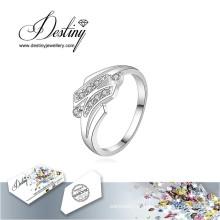 Destino joias cristal de Swarovski anel H