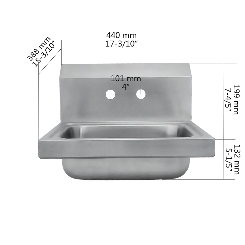 Wall Mount Hand Sink Pwb62 443933 Size