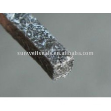 Graphite packing with PTFE impregnated