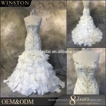 Последние Стиль высокое качество старинные свадебные платья русалка