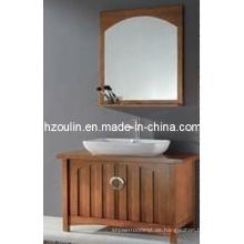 Badezimmerschrank aus massivem Holz (BA-1131)