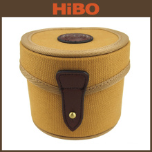 Tourbon New High Quality Pouch Brown Canvas Fly Fishing Reel Case