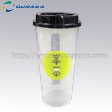 gobelets jetables en plastique pour boissons surgelées avec couvercle