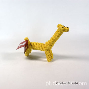 Girafa Trançada Cotton Rope Dog Chew Toy