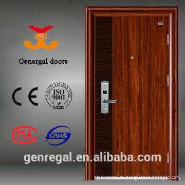 Роскошные деревянные зерна матовая супер крепкие стальные двери