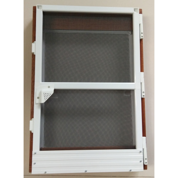 Aluminum frame insect screen door