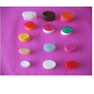 Tapas de botellas de colores