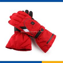Guantes de esquí eléctricos con calefacción de color rojo