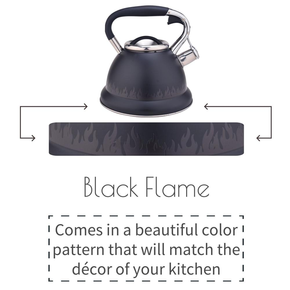 Black Whistling Stovetop Tea Kettle