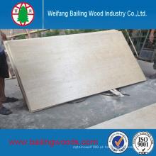 Fábrica de China Vende madeira compensada comercial do núcleo do álamo com preço barato
