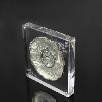 acrílico grabado láser reconocimiento de empleados placa de diseño