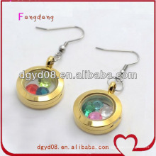 New drop photo frame gold earring wholesale
