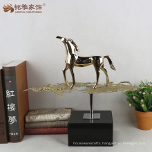 Desktop walking horse statue resin animal crafts