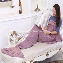 Werbe stricken Mermaid Tail Decke