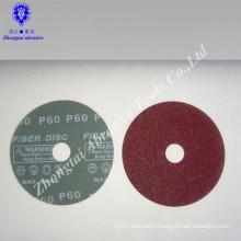 Resin fiber disc and sanding disc and abrasive disc for aluminium oxide