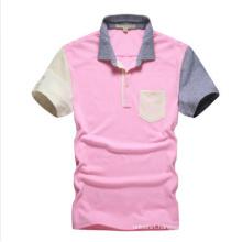 Custom Pink Plain Polo Shirt for Wholesale, Polo Shirt with Pocket