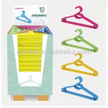 2013 Горячий продавая пластичный вешалка упакованный с коробкой дисплея