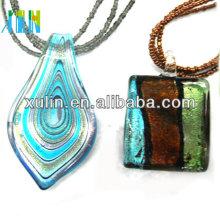 рука выдувное дихроичных плавленого стекла кулон стекло ожерелье