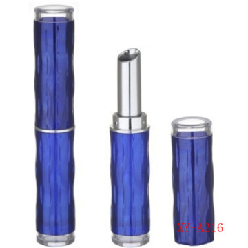 Bamboo Cylinder Blue Lipstick Container Empty