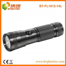 Factory Supply OEM EDC 14 led Aluminium Metal Cheap Wholesale Lampe torche avec 3 * AAA Dry Battery