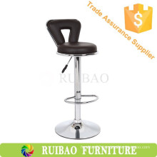 Modern Design Round Seat Cheap Bar Chairs Wholesale With PU Leather