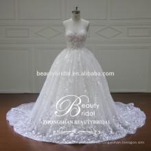 XF16071 real de marfil straapless ladylike vestido de novia Guangdong no caro vestido de novia de verano
