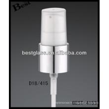 Pulvérisateur 18/415 de tuyau de bouteille en plastique avec le chapeau clair, déclencheurs cosmétiques de pulvérisateur de bouteilles, pulvérisateur de pompe de parfum