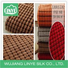 Tecido de estofamento jacquard, tecido de veludo de tecido de mobília