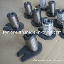 OEM de soldagem e usinagem de peças de montagem do eixo com orelha